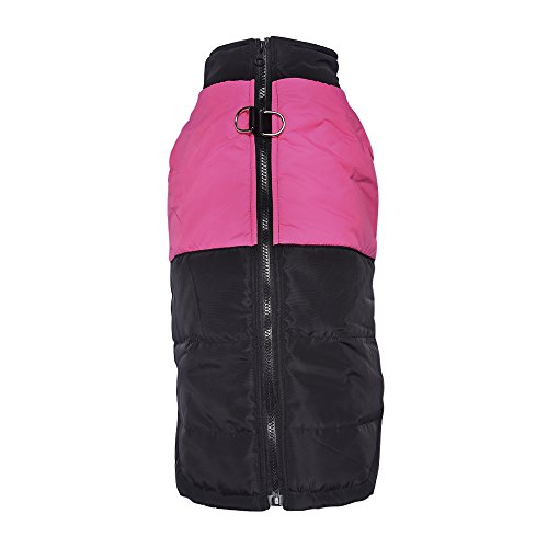 LESYPET Cold Weather Vest For Medium and Large Dogs With Safe Guard Zipper Closure Windproof