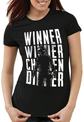 Femme Dinner Pvp Multiplayer t T shirt Chicken n Noir Winner A 4wFg60qx