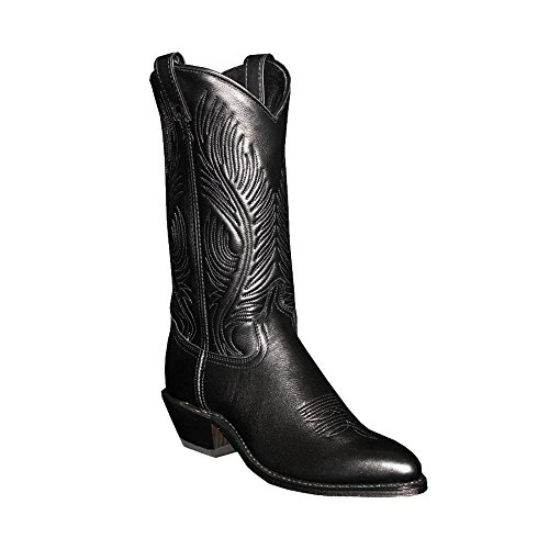 Abilene Women's Cowhide Cowgirl Boot Pointed Toe Black 11 M US Abilene Boots