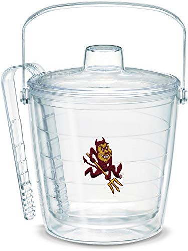 Bucket Ice Ncaa Devils (Tervis 1053327 Arizona State Sun Devils Sparky Mascot Ice Bucket with Emblem and Clear Lid 87oz Ice Bucket, Clear)
