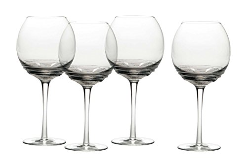 Mikasa Swirl Smoke Balloon Glass (Set of 4), 23.5 oz