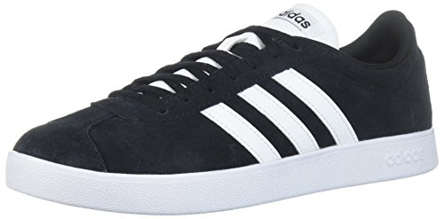 adidas Performance Men's VL Court 2.0 Sneaker,  Black/White/White,  10.5 M US