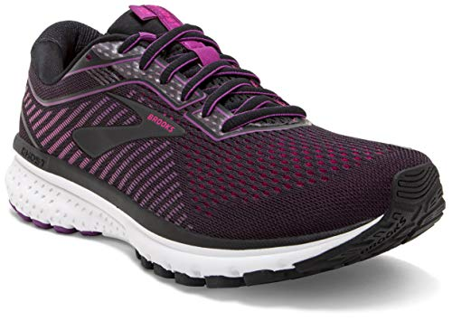 (Brooks Women's Ghost 12 Black/Hollyhock/Pink 10 B US)