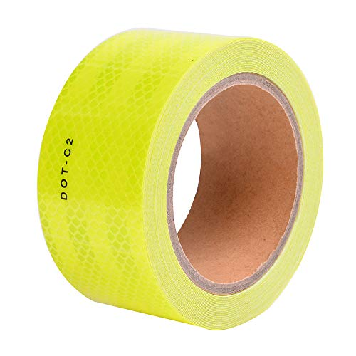 Fluorescent Yellow DOT-C2 Conspicuity Reflective Tape - 2 Inch X 30 Feet