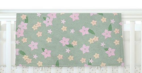 KESS InHouse KESS Original Spring Floral Green Pink Fleece Baby Blanket 40 x 30 [並行輸入品]   B077Z422M4