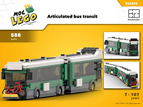 Articulated bus transit (Instruction Only): MOC LEGO por Bryan Paquette