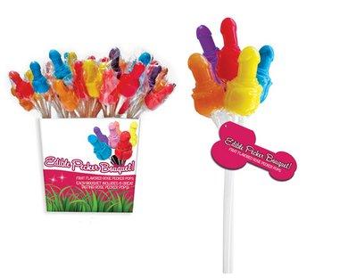 Edible Pecker Bouquet - 72 Pieces Pail Display - 12 Bundles by Sex Toys Online Store