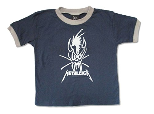 Metallica Scary Guy Toddler Infant Blue Ringer T Shirt (3T)