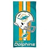 "McArthur Miami Dolphins 30"" x 60"" Fiber Beach Towel Revolution Helmet New 2018 Design"