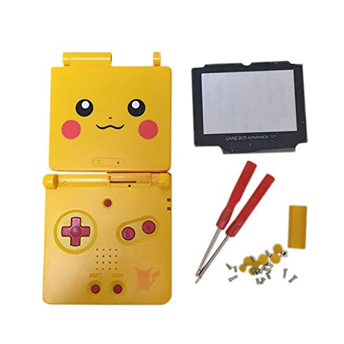 (Junsi Yellow Limited Replacement Housing Shell Case Cover w/Screwdrivers for GBA SP Gameboy Advance)