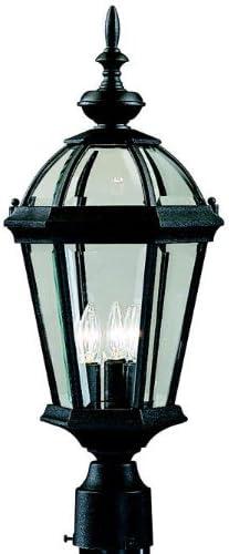 Kichler 9951BK Trenton 3LT Discount mail order Exterior Lantern w Max 74% OFF Post Black Finish