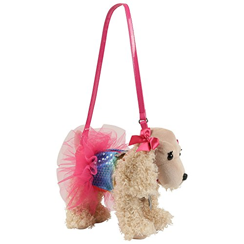 Sequin Purse (Poochie Co. Sadie with Rainbow Sequins and Tutu Plush Handbag)