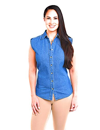Apparel Unlimited Women's Denim Sleeveless Shirt