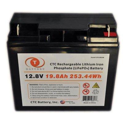 CTC 12.8 Volt 19.8Ah 253Wh Lithium Iron Phosphate (LiFePO...