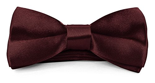 Price comparison product image Moda Di Raza - Boy / Men's Bow Tie Pre Tied 4x2 inch Formal Casual BowTies - Wine