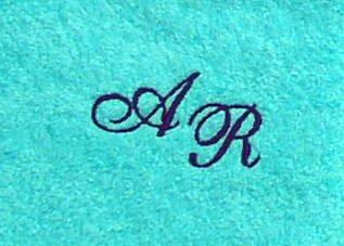 Toalla de 50 x 100 cm de Nueva York turquesa iniciales, el colour del palillo