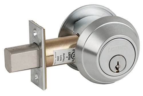 Schlage B662P 626 C123 Keyway B600 Series B600 Grade 1 Deadbolt Lock, Double Cylinder Function, C Keyway, Satin Chrome Finish by Schlage Lock Company