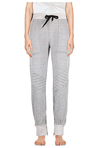 G2 Chic Women's Casual French Terry Fashion Jogger Pants(BTM-PNT,GRYA3-M)