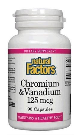 amazon com natural factors chromium vanadium 125mcg helps