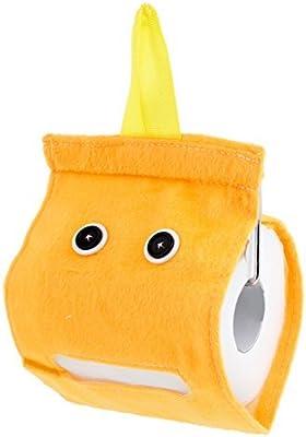 eDealMax baño de Felpa higiénico Rollo de Papel del sostenedor del Tejido dispensador de Orange