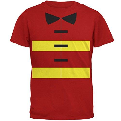 Cheap Fireman Costumes (Halloween Fireman Costume Red Adult T-Shirt - 2X-Large)