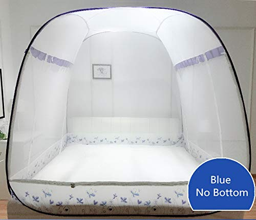 Mosquito Net for Camping bed - Large Square Mosquito Net for 1.8m Double Bed Insect Reject Bedding Net Three-Door with Zipper Folding Portable Bed Net 13 Color