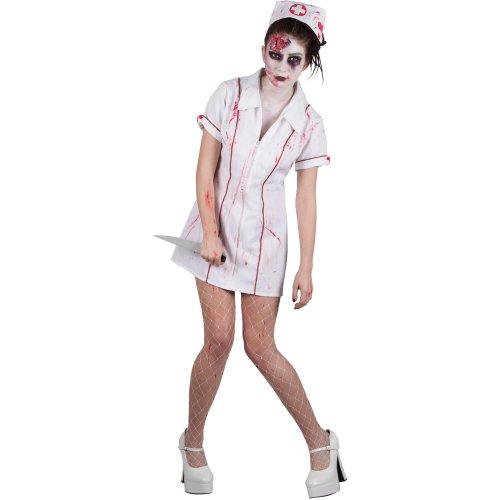 Halloween Zombie Killer Nurse Adult Ladies Fancy Dress Costume -