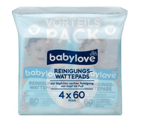Reinigungs-Wattepads, 4 x 60 St, 240 St babylove