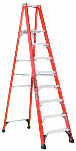 Louisville Ladder FP1410HD Fiberglass Platform Ladder, 10 Feet, 375 Pound Duty Rating