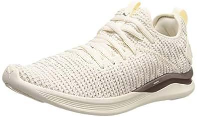 PUMA Women's Ignite Flash Luxe WN's Whisper Shoes, Whisper White-Metallic Ash, 6 US