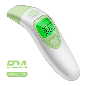 Baby Ear And Forehead Thermometer Accurate Professional 4 In 1 Digital Medical Infrared Body Fever Thermometers Punctual Timing Mother & Kids Baby Care