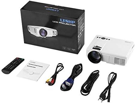 LESHP Q5 Proyector LED 800 * 480 Pixel 1200LM Mini proyector de ...