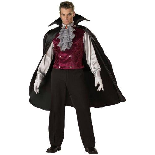 Classic Vampire Costume - Large - Chest Size 42-44 (Sexy Male Vampire Costume)