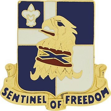 (122nd Regiment Unit Crest (Sentinel Of Freedom))