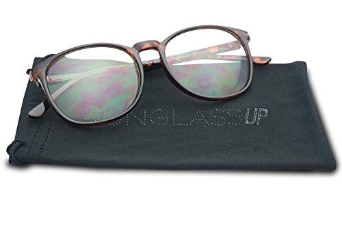 SunglassUP Vintage Classic 55mm Nerdy Thin Plastic Clear Lens Urkel Eye Glasses - Non Prescription Eyeglasses (Tortoise, - Hipster Glasses Prescription
