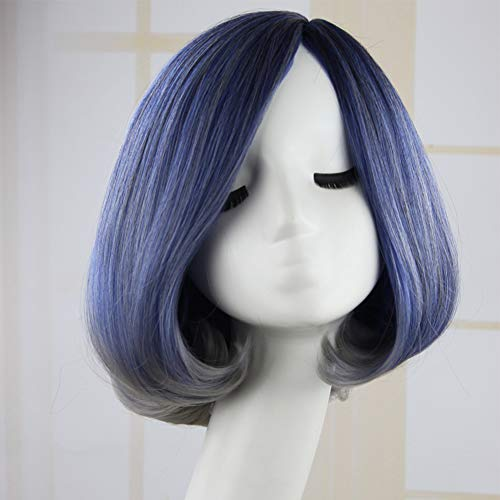7df743ac471d Artemis Hair 14 Inch Bob Straight Blue Grey Synthetic Wigs for Women Girls  Natural daily Cosplay Party Heat Resistant Fiber Natural-Looking with Hair  ...