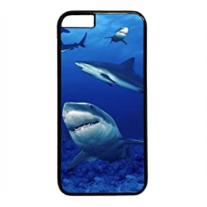 "Sea Shark Theme Case for iPhone 6 Plus (5.5"") PC Material Black"