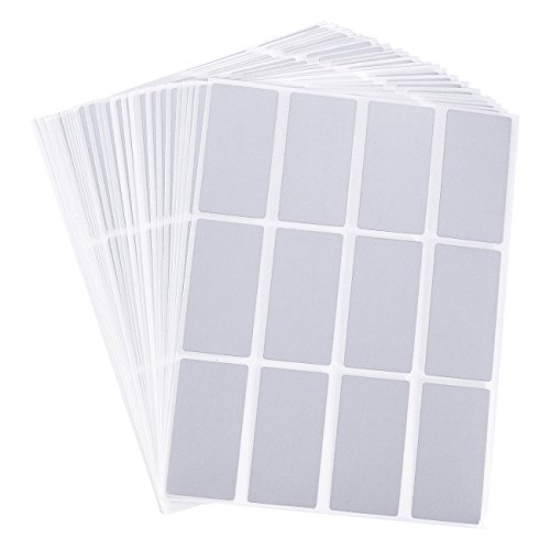 Scratch-Off Stickers - 516-Pack Rectangular Sticker Labels, Self-Adhesive Peel and Stick DIY Rectangle Labels for Wedding Games, Fundraisers, Promotions, Silver, 2 x 1 Inches