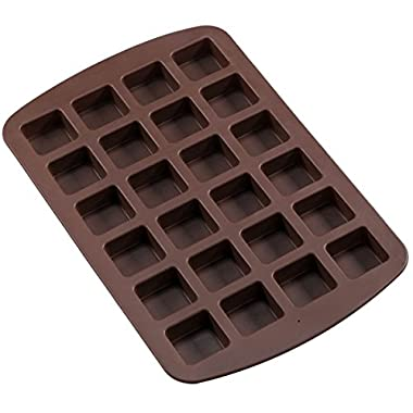 Sorbus® 24 Cavity Silicone Brownie Squares Baking Mold Pans, Non-Stick, Easy To Clean, Oven / Microwave / Dishwasher / Freezer safe, Heat Resistant Up To 450°F