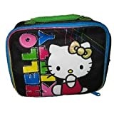 Hello Kitty Insulated Lunchbox Tote Bag in Black For Sale