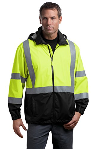 CornerStone Men's 107 Class 3 Safety Windbreaker XL Safety (Visibility Windbreaker)