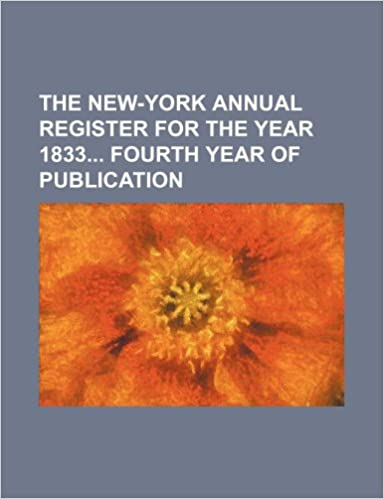 Book The New-York annual register for the year 1833 fourth year of publication