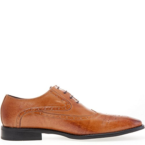 J75 Genom Zum Mens Windsor Oxfordskor Tan