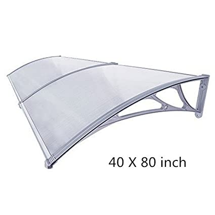 Window Awning Outdoor Polycarbonate Front Door Patio Cover Canopy