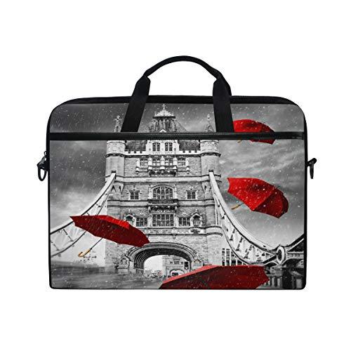TropicalLife Laptop Bag Tower Bridge London Theme Lightweight Briefcase Shoulder Messenger Bag Laptop Case Sleeve for 11.6-15 inch MacBook Pro, MacBook Air Laptop and Tablet (Dell 104 Quiet Key Usb 2-0 Keyboards)