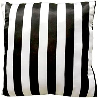 Just For Kids 3 Dimensional Pink Bow with Black White Stripe Decorative Pillow