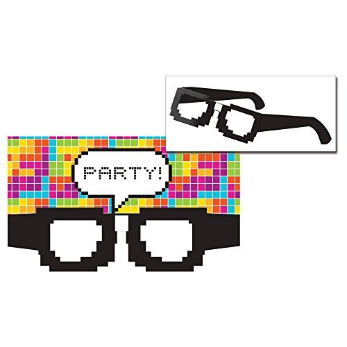 Get Nerdy - Nerd Party Invitations with Paper Glasses (8 ct)]()