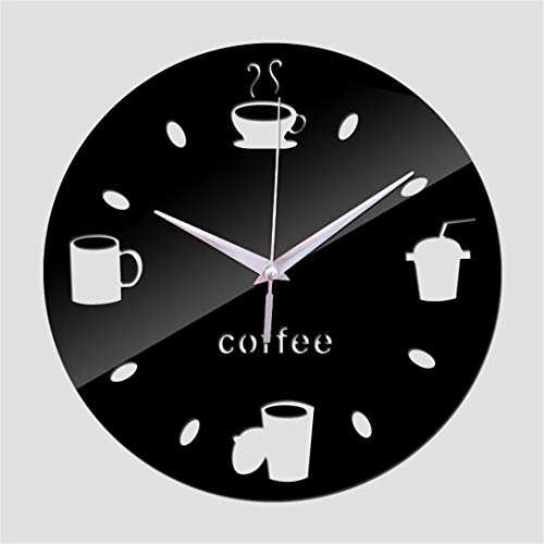 SHFISIKI Acrylic Mirror Quartz Watch Wall Clock DIY 3D Stickers Reloj De Pared Modern Design Large
