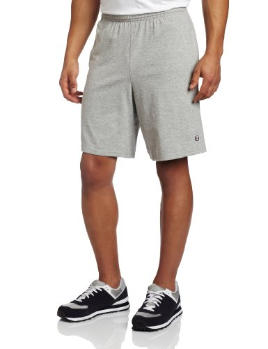 Mens Cotton Jersey Short (Champion Men's Jersey Short With Pockets, Oxford Grey, X-Large)