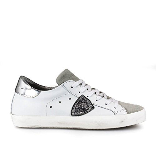 PHILIPPE MODEL PARIS CLASSIC WHITE/SILVER SNEAKER
